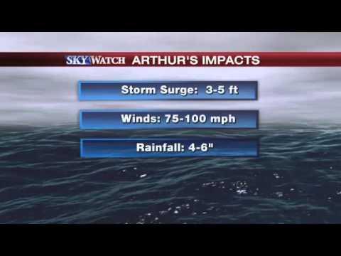 Arthur Strengthens to Category 2 Hurricane