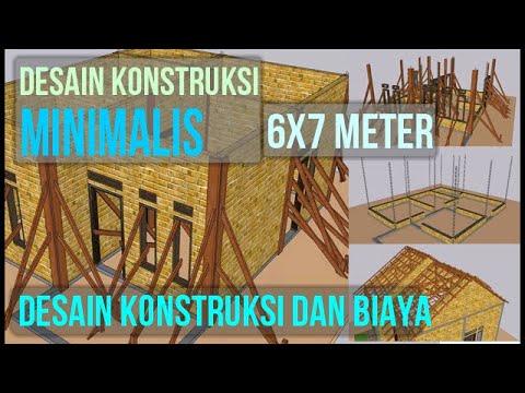 Download Konstruksi Rumah Minimalis 6x7 Meter Biaya Murah - Insinyur Official