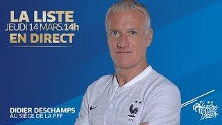 Équipe de France, l'annonce de liste et conférence de Didier Deschamps en replay I FFF 2019