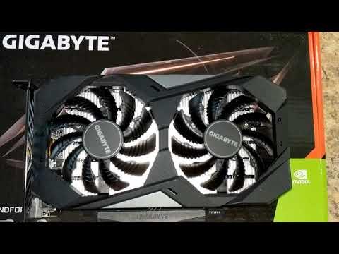 Gigabyte PCI-Ex GeForce GTX 1650 D6 Windforce OC 4GB GDDR6 (128bit) (1590/12000) (DVI-D, HDMI, DisplayPort) (GV-N1656WF2OC-4GD)