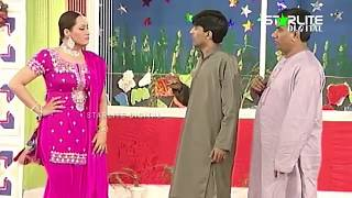 Nasir Chinyoti, Nargis and Sajan Abbas New Pakistani Stage Drama Full Comedy Clip