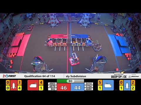 Qualification 64 - 2019 FIRST Championship - Detroit - Daly Subdivision