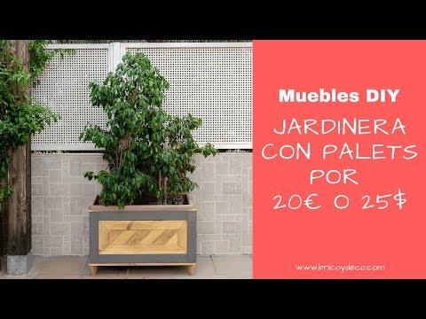 Jardinera con palets de madera por menos de 20€ o 25$