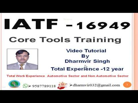 IATF 16949 2016 Core tools training in Hindi