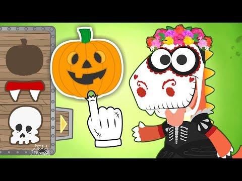 Aprende con Eddie a disfrazarte de Catrina 💀🌸 Eddie el dinosaurio se disfraza para Halloween
