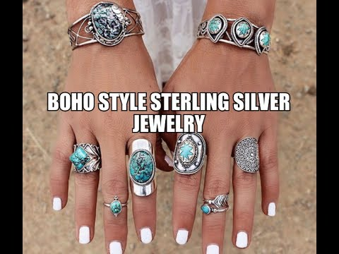 Boho Style Sterling Silver Jewelry