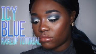 Icy Blue Eyes & Nude Lips | Tutorial | Makeup On Marz
