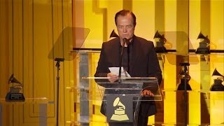 Ralf Hütter on the Grammy stage.