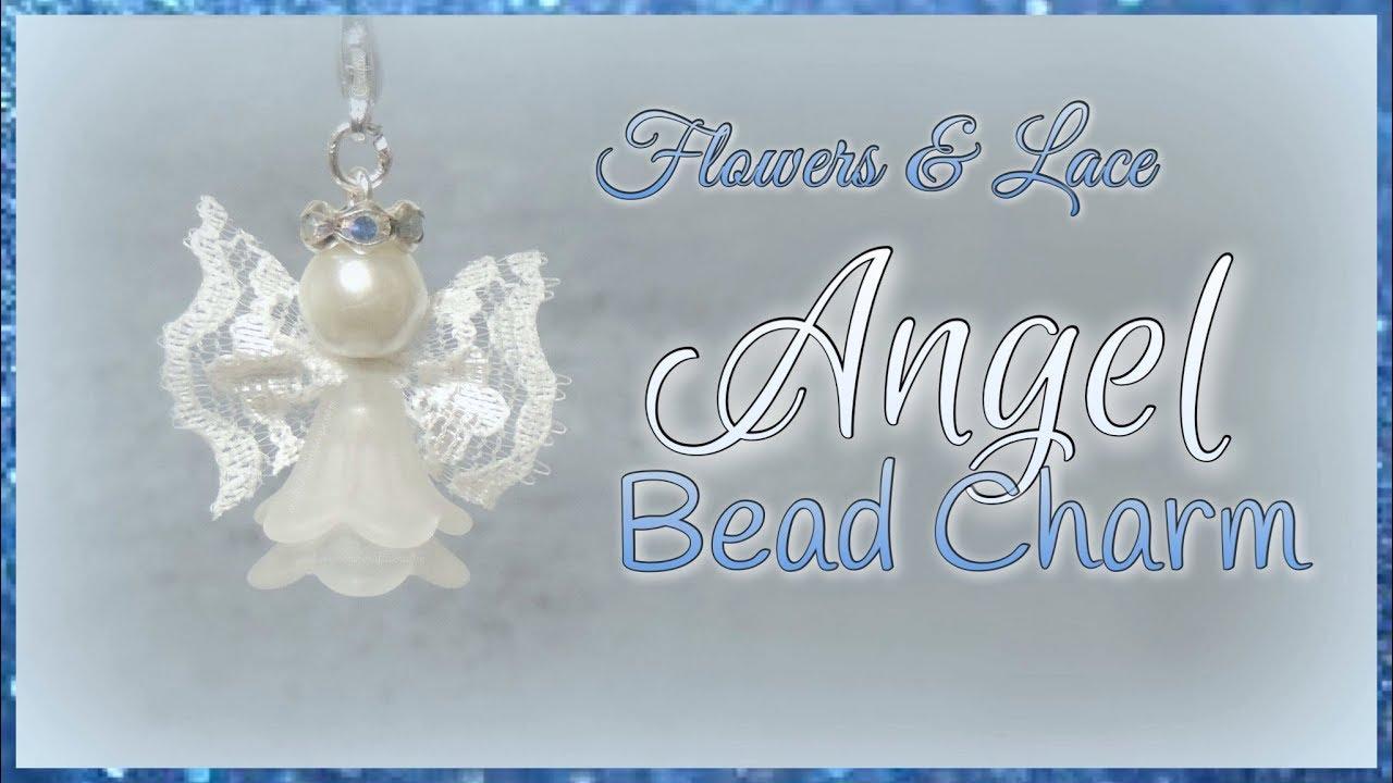 Flowers & Lace Angel Bead Charm - YouTube