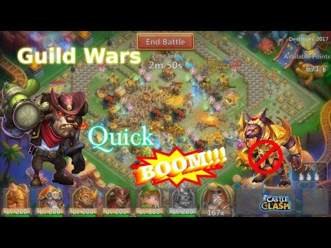 Quick Guild War Gameplay MINO BOOM New Scoring System! Castle Clash
