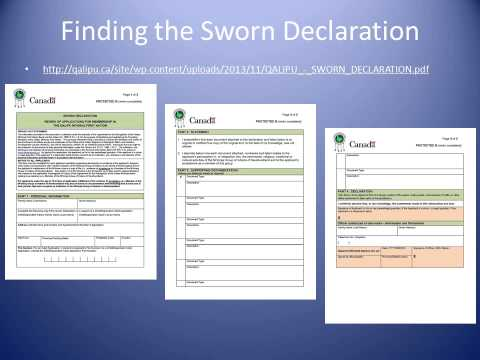 The Sworn Declaration
