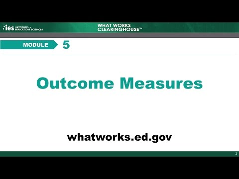 Module 5, Chapter 1: Introduction to Outcome Measures