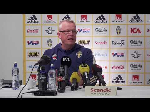 Se hela presskonferensen med Janne Andersson inför Rumänien och Chile - TV4 Sport