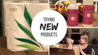 TRYING PAPER PRODUCTS Made from BAMBOO || MRS MEYERS MUM || Grove Collaborative || Seedling