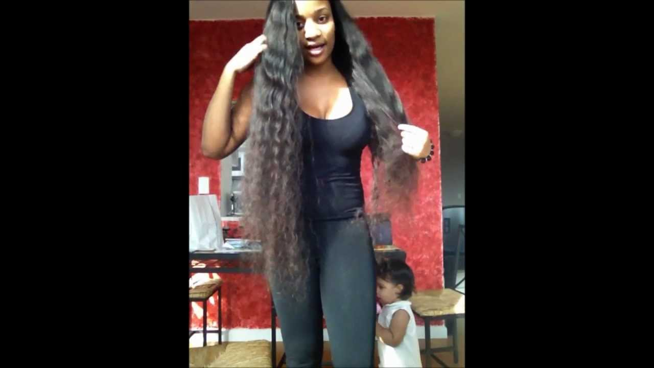 More Long Hair 34 32 Inches Brazilian Deep Wave Youtube