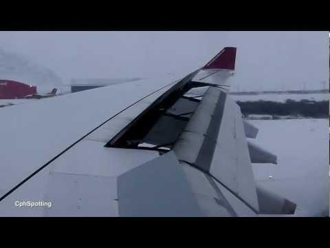 Air Greenland Airbus A330-200 - Low Visibility Cabin View Landing @ Kangerlussuaq Airport [HD]