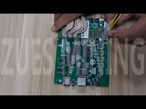 AntminerS9 control board down frequency repair firmware video tutorial
