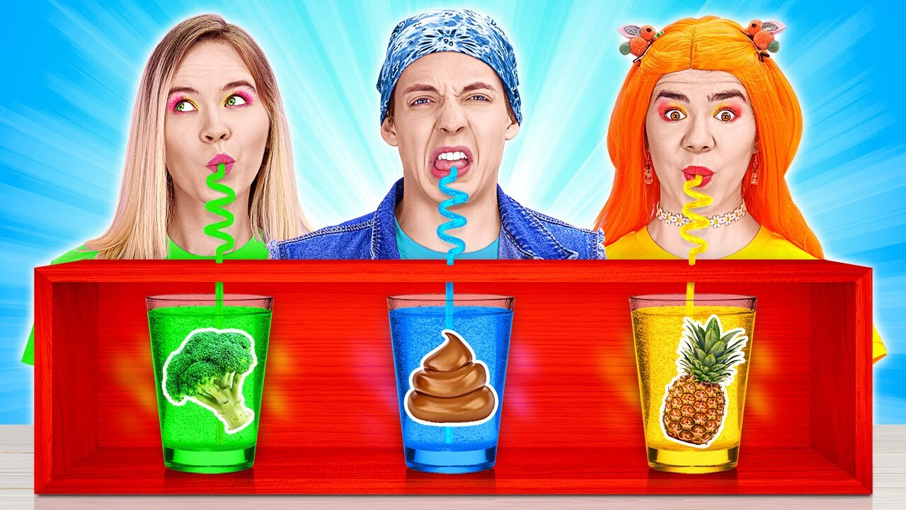 DON'T CHOOSE THE WRONG MYSTERY DRINK CHALLENGE! || Last To STOP Wins For 24 HOURS By 123 GO! TRENDS