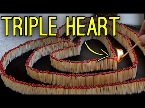 Thumbnail: Triple Heart - matches domino reaction