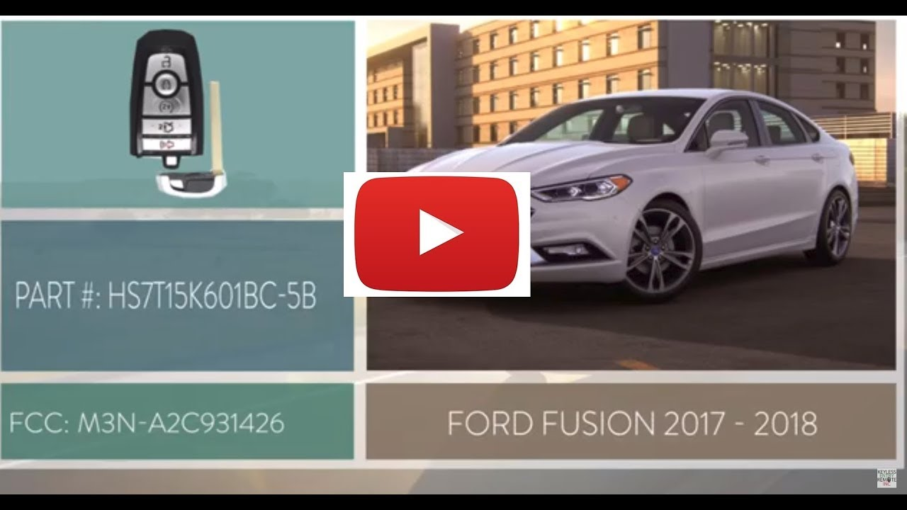 How To Replace A 2017 2018 Ford Fusion Key Fob Battery