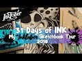31 DAYS OF INK FINISHED - My 2018 Sketchbook Tour of my INKTOBER Drawings