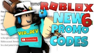 6 NEW PROMO CODES on ROBLOX!