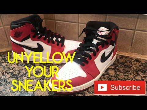 BEST How To Unyellow Your Sneaker Sole!! #Tutorial #Sneaker #Restoration #Jordan