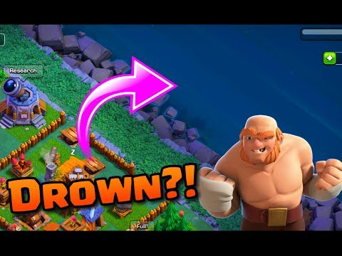 CAN YOU PUSH TROOPS IN THE WATER IN CLASH OF CLANS