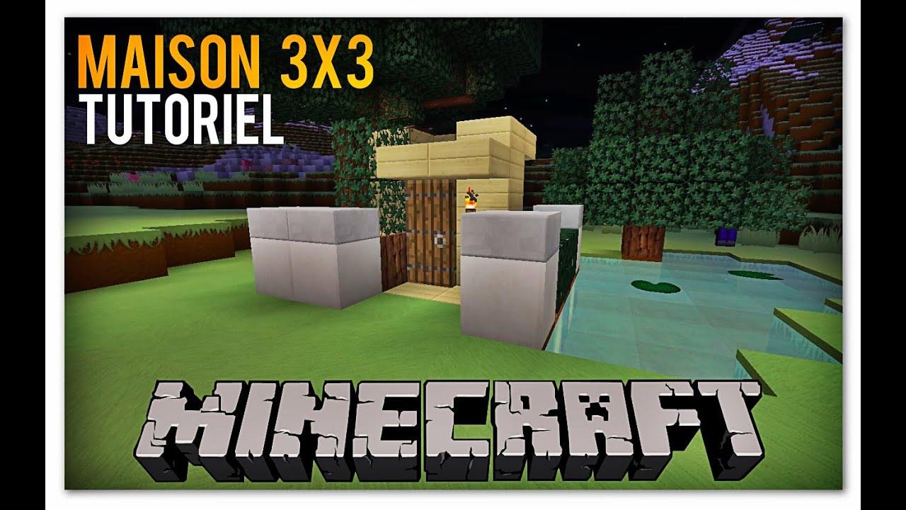 Minecraft- comment faire une petite maison 3X3 - YouTube