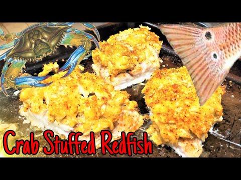 Crab Stuffed Redfish (Red Drum) Simple & DELICIOUS!!
