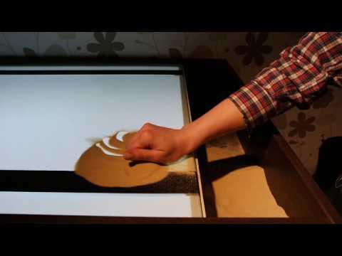 Рисование песком уроки видео