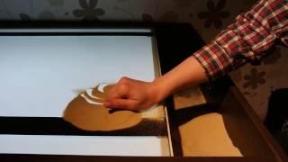 Рисование песком на стекле.  Урок № 1.  За 5 минут рисуй как профи