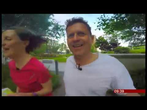 BBC Breakfast's Mike Bushell takes part in orienteering