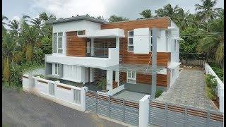 Cute Small Modern Double Floor House 1900 Sft | Elevation | Design | Interiors