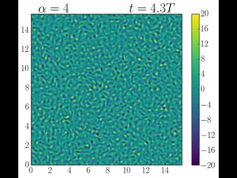 Weakly excited phase in active fluid model