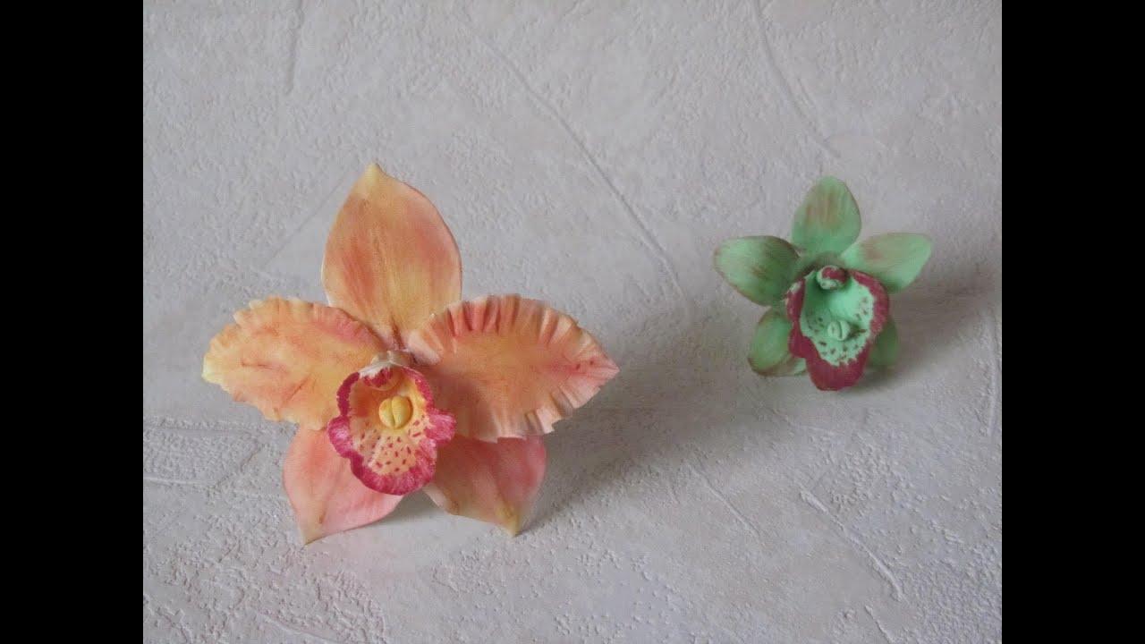 Fiori In Pasta Di Zucchero Orchidee Parte 1 Di 2