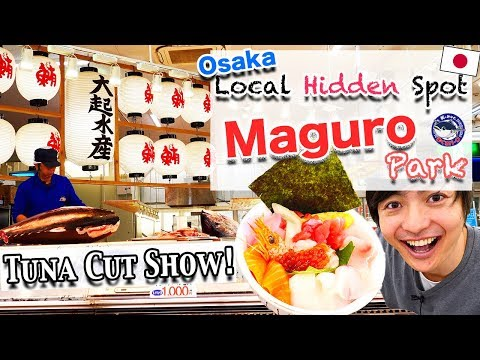 🇯🇵Tuna Cut Show And Cheap Seafoods! Osaka Hidden Local Fish Market