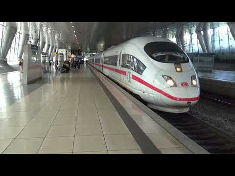 フランクフルト空港駅 ICE  ドイツ新幹線  ICE train departing at Frankfurt Airport Station