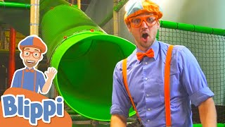 Learning At The Kids Club  Ndoor Playground With Blippi Educational Videos For Kids