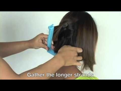 How to cut A line Bob hairstyle Cut your own hair at home - YouTube