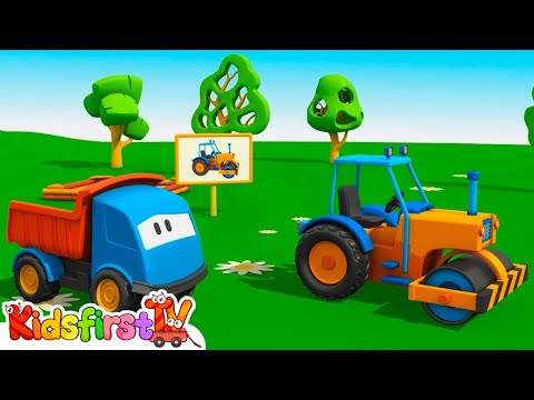 🚚 Leo the truck & a road roller. Kids cartoons & games for kids. Cars for kids animation.