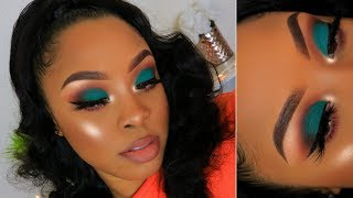 GRWM Teal Eyeshadow + Half Up Half Down Hairstyle | FT SuperNova Hair