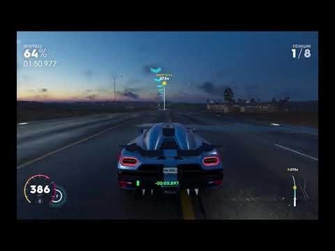 Девушка за рулем. Игра The Crew 2. Автомобиль Koenigsegg Agera R