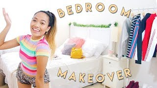 MY INEXPENSIVE BEDROOM MAKEOVER | RE-DOING MY ROOM 2018 (on budget)