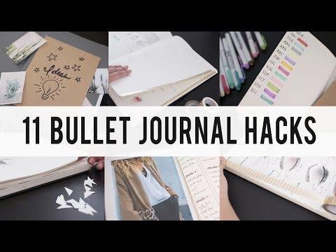 11 BULLET JOURNAL HACKS / DIY / Tips / IDEAS  | ANN LE