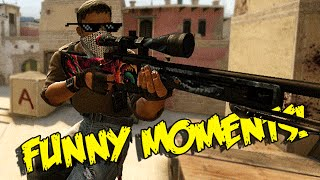 CS GO FUNNY MOMENTS - CRAZY 360 NO SCOPE , B HOPPING PRO & MORE (Funny Moments)