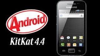android 4.4.2 kit kat para samsung galaxy ace