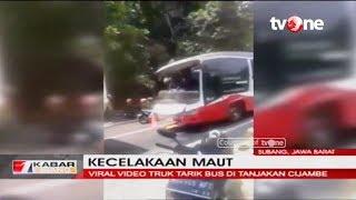 Baixar Detik-detik Tali Derek Truk Putus, Bus Mundur di Tanjakan dan Tewaskan Warga