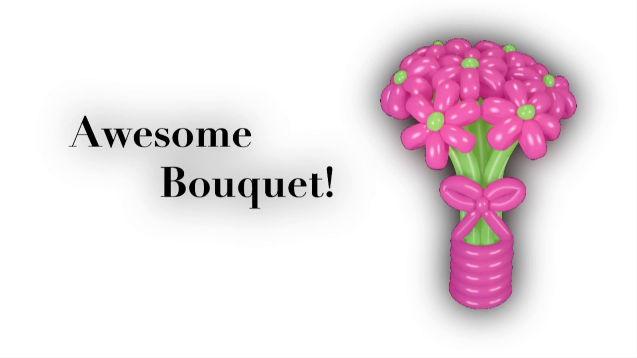 Awesome Balloon Bouquet - YouTube