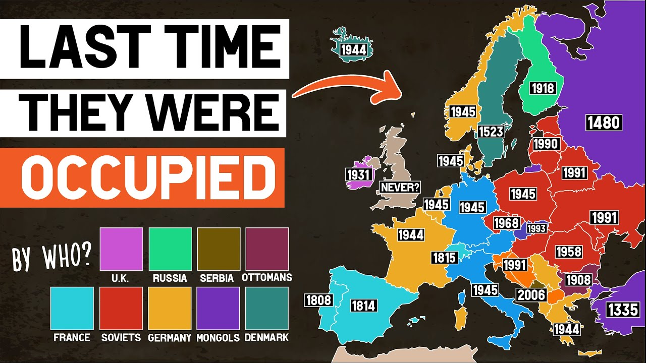 When Was Each European Country Last Occupied?